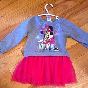Disney Minnie Mouse 4T pink and gray dress